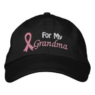 Conciencia del cáncer de pecho para mi abuela gorra bordada