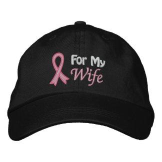 Conciencia del cáncer de pecho para mi esposa gorra de beisbol bordada