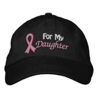 Conciencia del cáncer de pecho para mi hija gorra de béisbol bordada