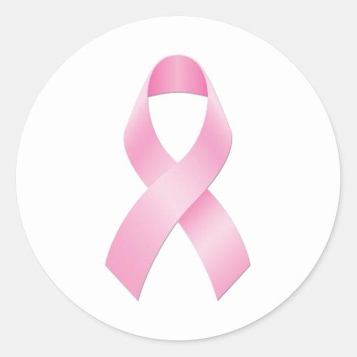Conciencia del cáncer de pecho etiqueta redonda