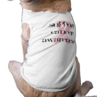 Conciencia del cáncer de pecho playera sin mangas para perro