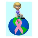 Conciencia del cáncer de pecho postal