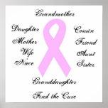Conciencia del cáncer de pecho posters