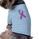 Conciencia del cáncer de pecho ropa macota