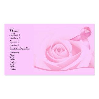 Conciencia del cáncer de pecho tarjetas de visita