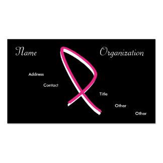 Conciencia del cáncer de pecho tarjeta personal