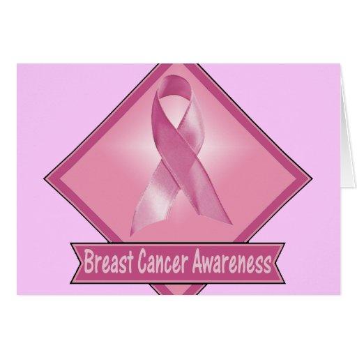 Conciencia del cáncer de pecho tarjeta de felicitación