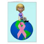 Conciencia del cáncer de pecho tarjetas