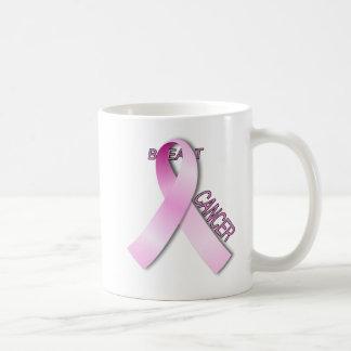 Conciencia del cáncer de pecho taza de café