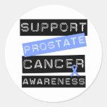 Conciencia del cáncer de próstata de la ayuda etiquetas redondas