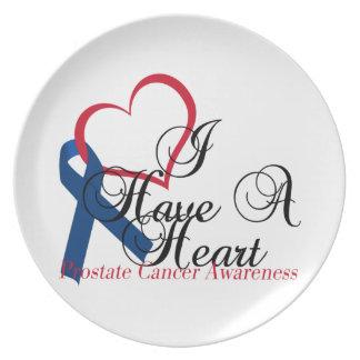 Conciencia del cáncer de próstata de la cinta de a platos