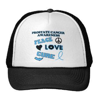 Conciencia del cáncer de próstata gorros