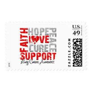 Conciencia del cáncer de pulmón de la curación del sellos