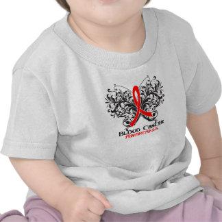 Conciencia del cáncer de sangre de la mariposa camiseta