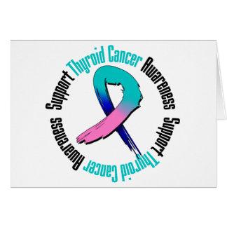 Conciencia del cáncer de tiroides de la ayuda tarjeta de felicitación