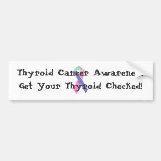 Conciencia del cáncer de tiroides (pegatina para e pegatina para auto