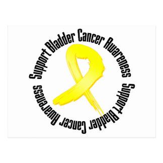 Conciencia del cáncer de vejiga de la ayuda tarjetas postales