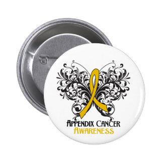 Conciencia del cáncer del apéndice de la mariposa pin redondo 5 cm