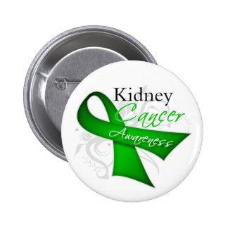 Conciencia del cáncer del riñón de la cinta de pin redondo de 2 pulgadas