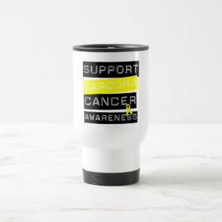 Conciencia del cáncer del sarcoma de la ayuda taza de viaje de acero inoxidable