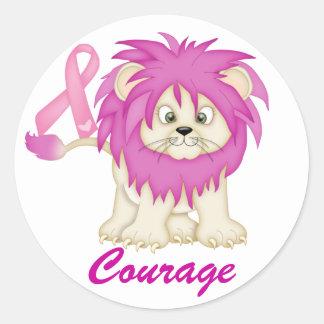 Conciencia del cáncer - el león de Tracy por SRF Etiqueta