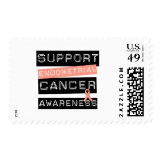 Conciencia del cáncer endometrial de la ayuda sello