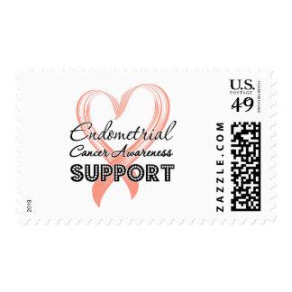 Conciencia del cáncer endometrial de la ayuda sellos