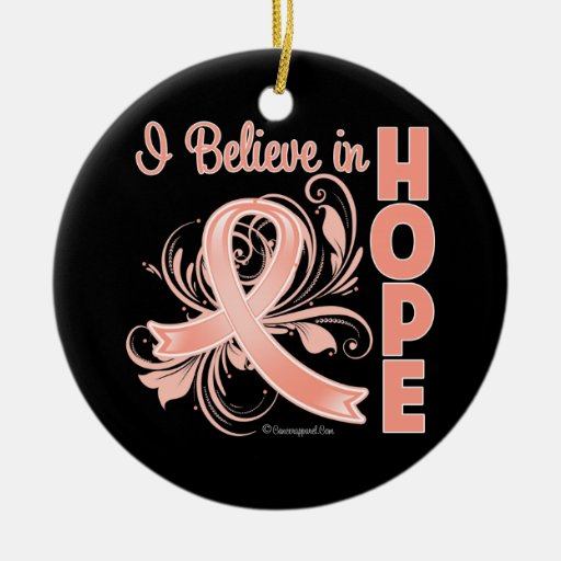 Conciencia del cáncer endometrial que creo en espe adornos de navidad