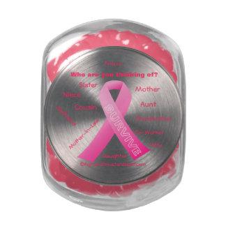 Conciencia del cáncer frascos cristal