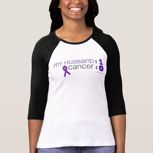 Conciencia del cáncer - mi marido: 1 cáncer: 0 camisetas