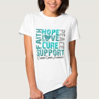 Conciencia del cáncer ovárico de la curación del playera