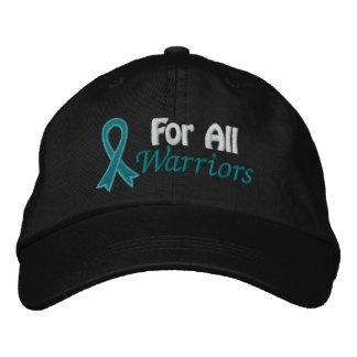 Conciencia del cáncer ovárico para todos los guerr gorra de béisbol bordada