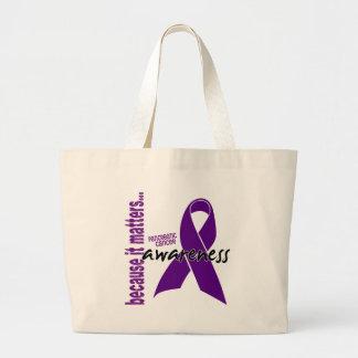 Conciencia del cáncer pancreático bolsa tela grande
