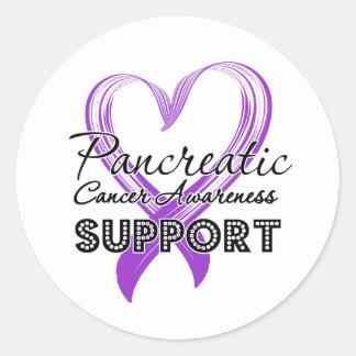 Conciencia del cáncer pancreático de la ayuda pegatina redonda