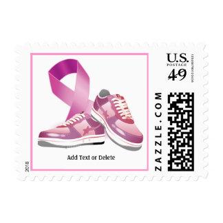 Conciencia del cáncer - paseo para la curación timbres postales