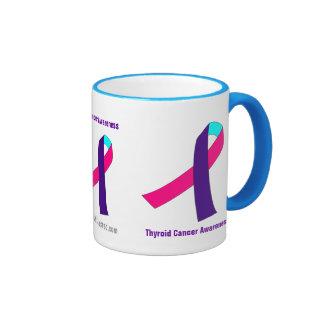 Conciencia del cáncer taza a dos colores