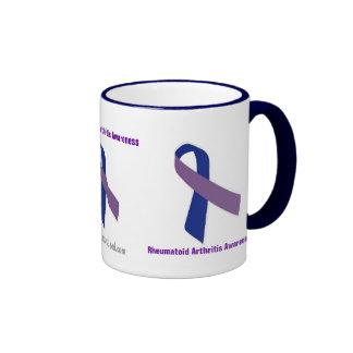 Conciencia del cáncer taza de dos colores