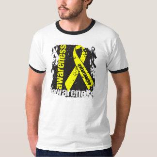Conciencia del cáncer testicular del Grunge Polera