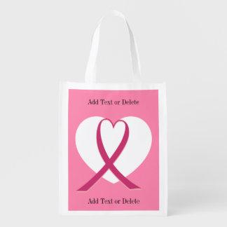 Conciencia del cáncer - ultramarinos, regalo, bolsas de la compra