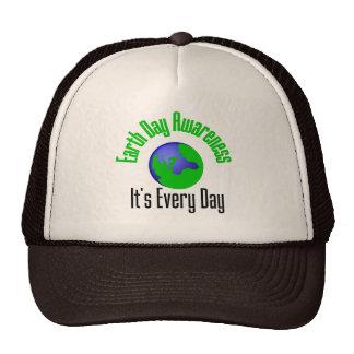 Conciencia del Día de la Tierra cada día Gorra