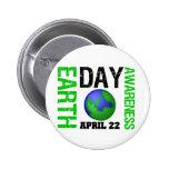 Conciencia del Día de la Tierra Pin