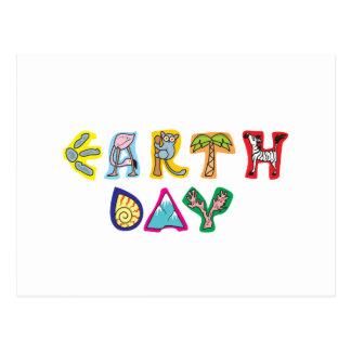 Conciencia del Día de la Tierra Postal