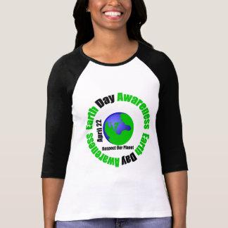 Conciencia del Día de la Tierra - respete nuestro Camiseta