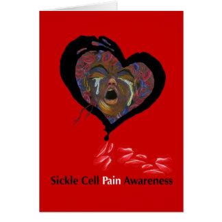 Conciencia del dolor de la célula falciforme tarjetón