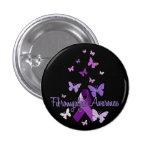 Conciencia del Fibromyalgia (cinta y mariposas) Pins