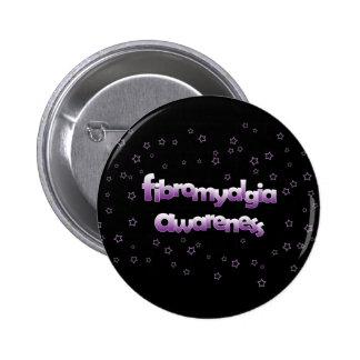 Conciencia del Fibromyalgia: Estrellas Pin Redondo 5 Cm