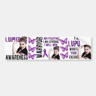 Conciencia del lupus pegatina para auto