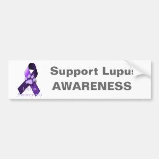 Conciencia del lupus etiqueta de parachoque