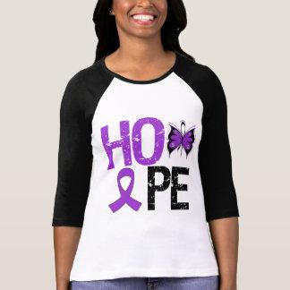 Conciencia del lupus de la esperanza camiseta