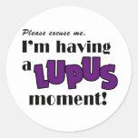 Conciencia del lupus etiquetas redondas